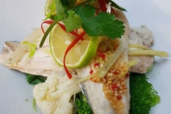 Pla Nueng Ma Nao (Stream Sea Bass)